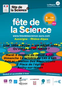 Fête de la Science au FabLac, 9 et 14 octobre 2018