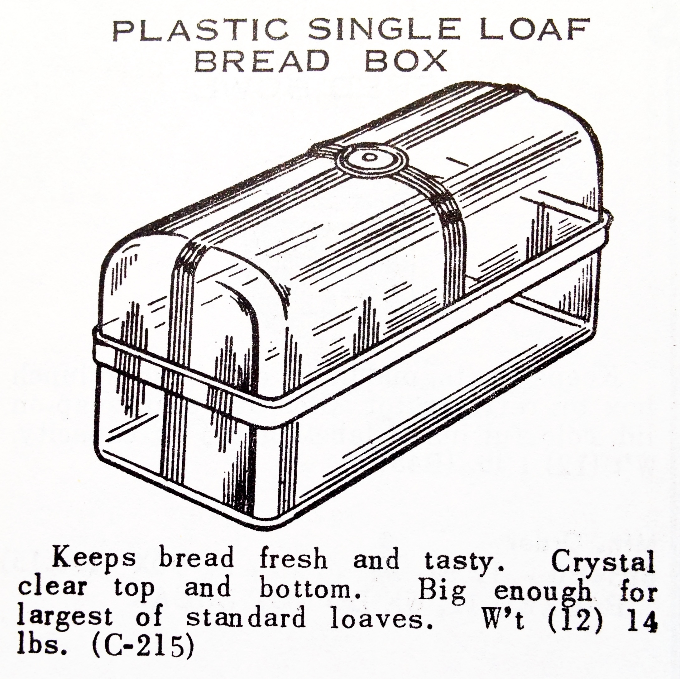 Plastic Single Loaf Bread Box « Hardware Illustrated
