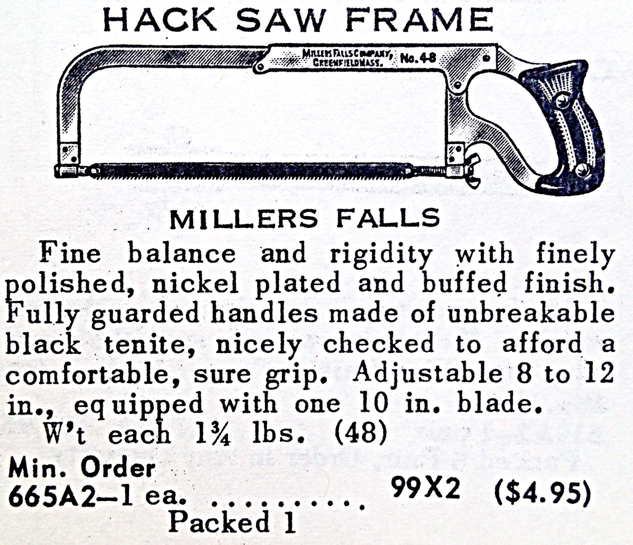 Hack Saw Frame