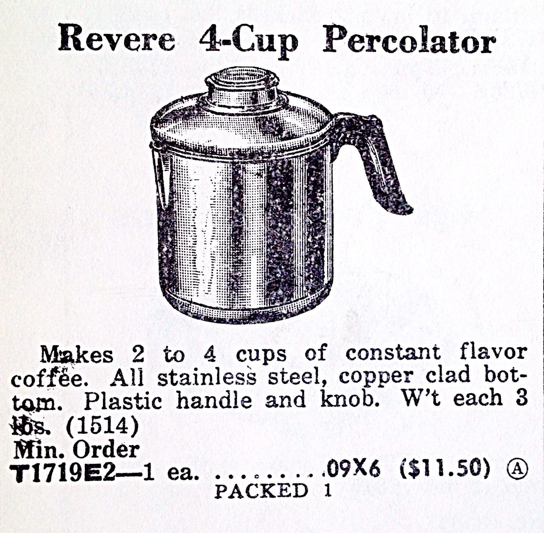 Revere 4-Cup Percolator « Hardware Illustrated