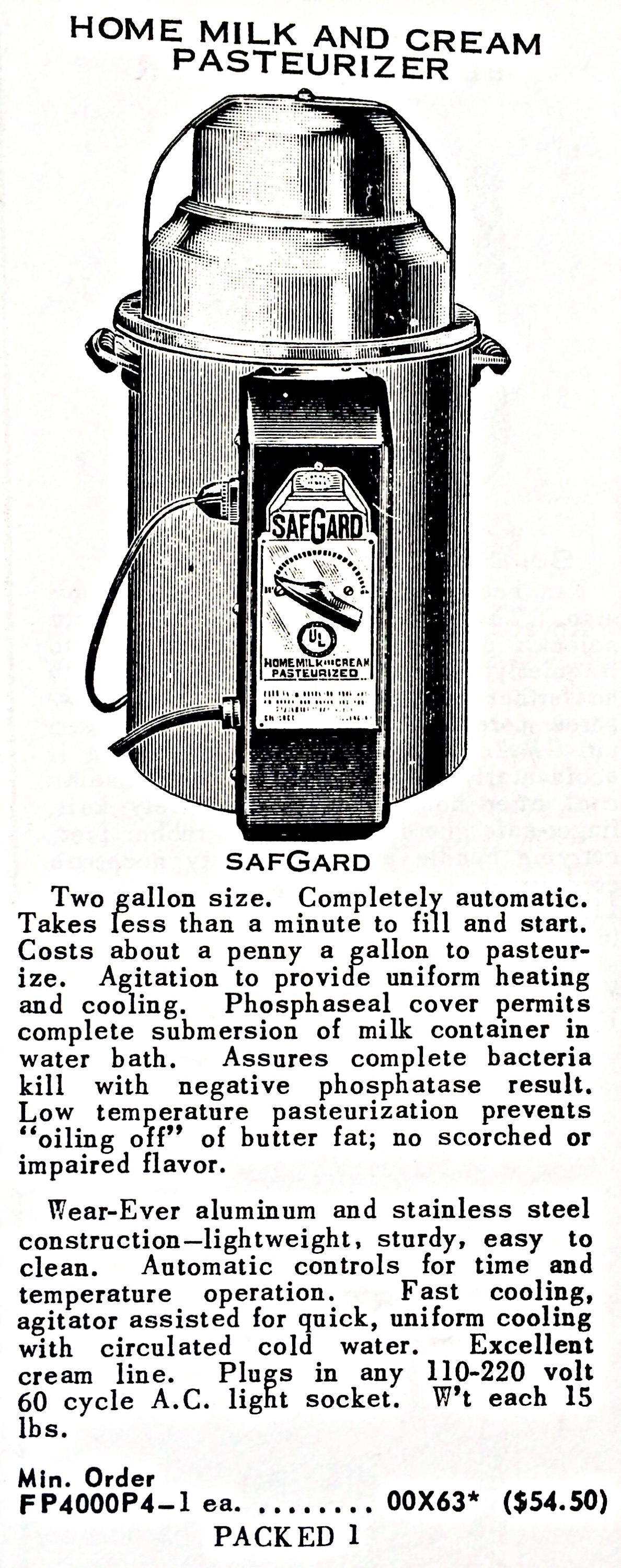 Home Milk And Cream Pasteurizer « Hardware Illustrated