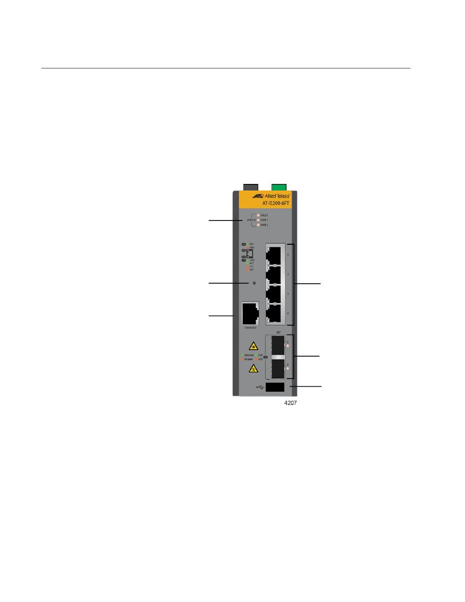 Gebrauchsinformation / Datenblatt zu Allied Telesis IE200