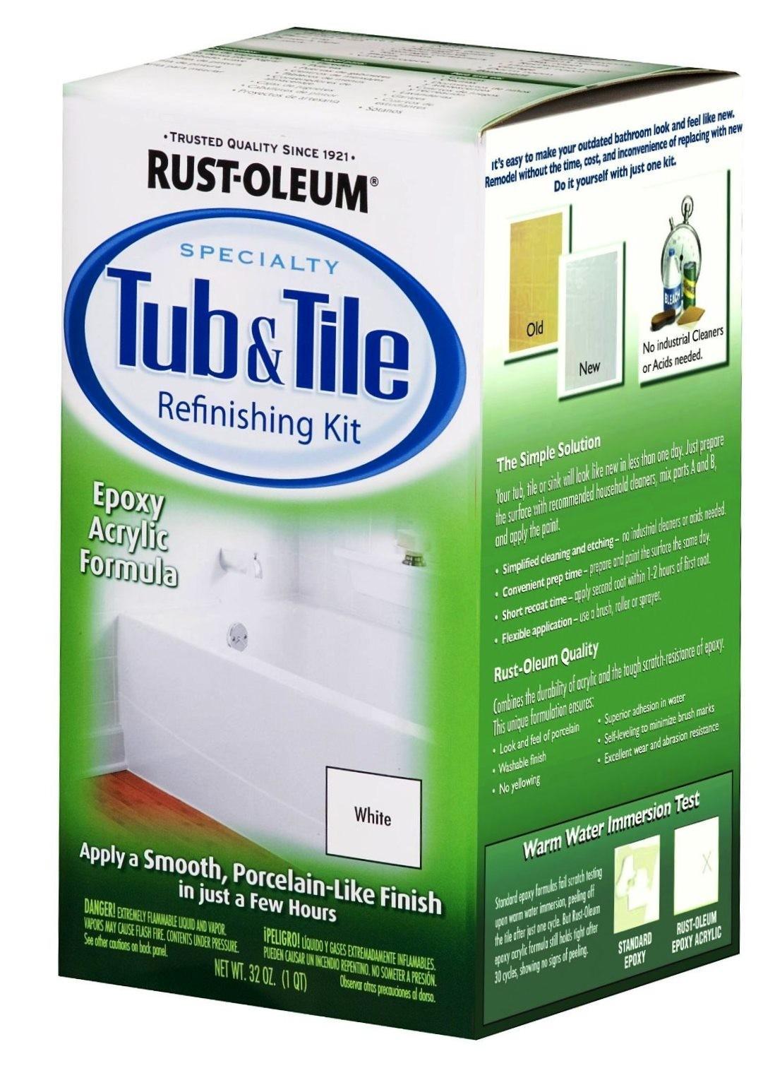Buy the RustOleum 7860 Tub  Tile Refinishing Kit White
