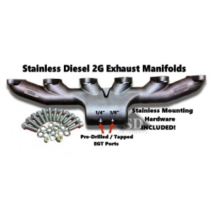 T-6 24 VALVE STAINLESS DIESEL EXHAUST MANIFOLD-0