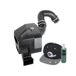 aFe POWER 51-80612-E Diesel Elite Stage-2 Si Pro DRY S Cold Air Intake System 2004.5-05 6.6L-0