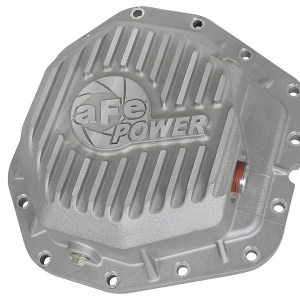 aFe POWER 46-70380 Rear Differential Cover, Raw Finish; Street Series-0
