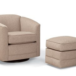 Swivel Chair And Ottoman With Long Seat 506 Style Hardwood Creations