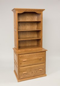 File Cabinet Bookcase Combination | Hardwood Creations