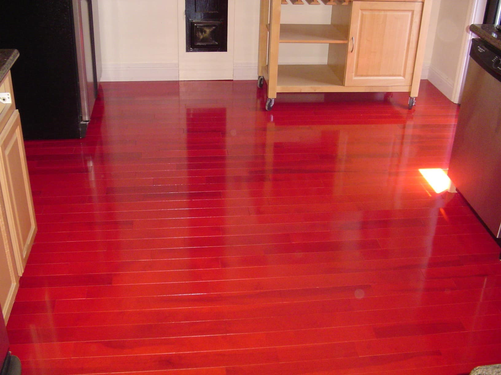 Cherry hardwood floor restore Long Island NY  Advanced