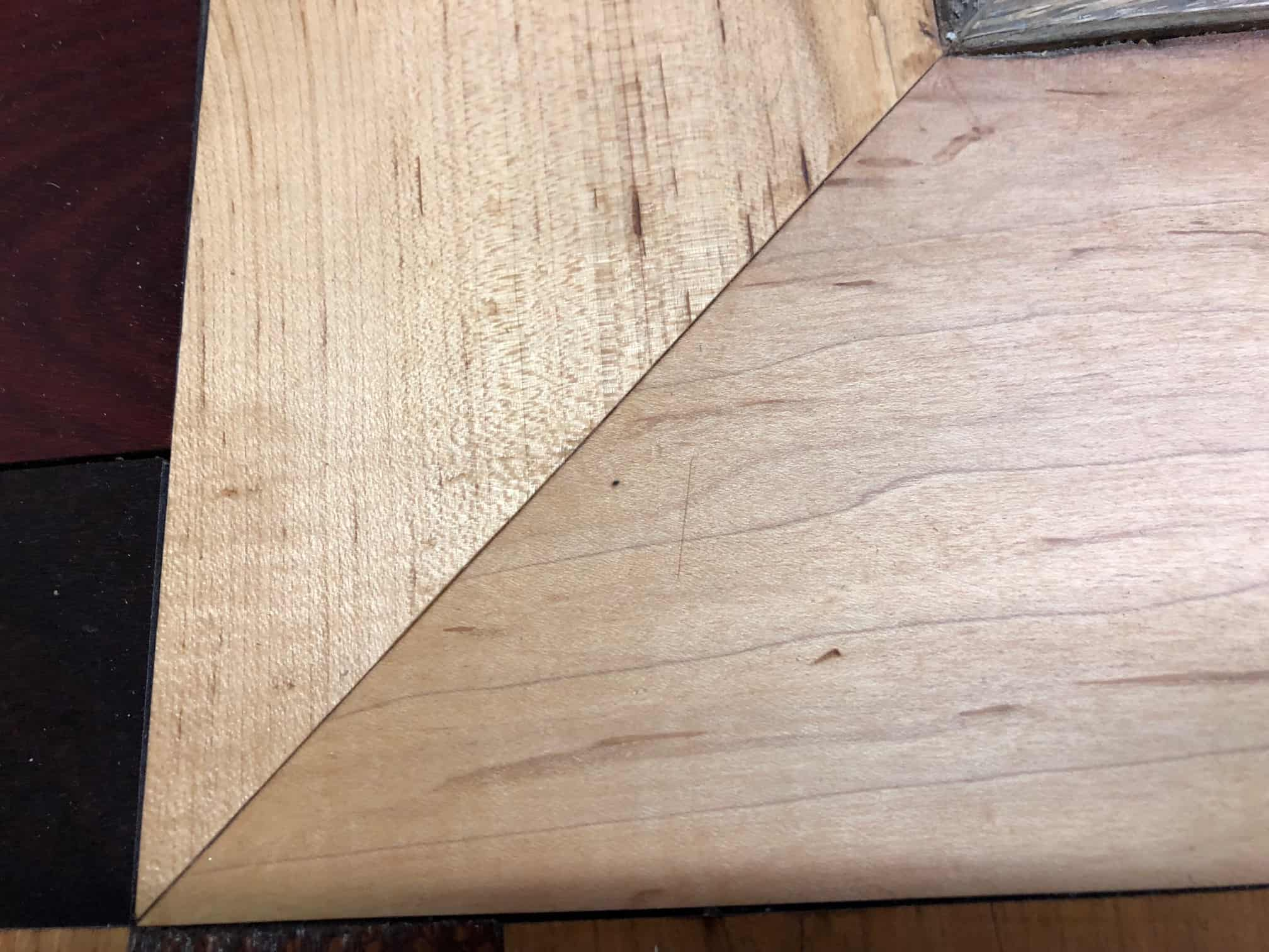 Hardwood Hints Dealing with Mitered Corners  Hardwood
