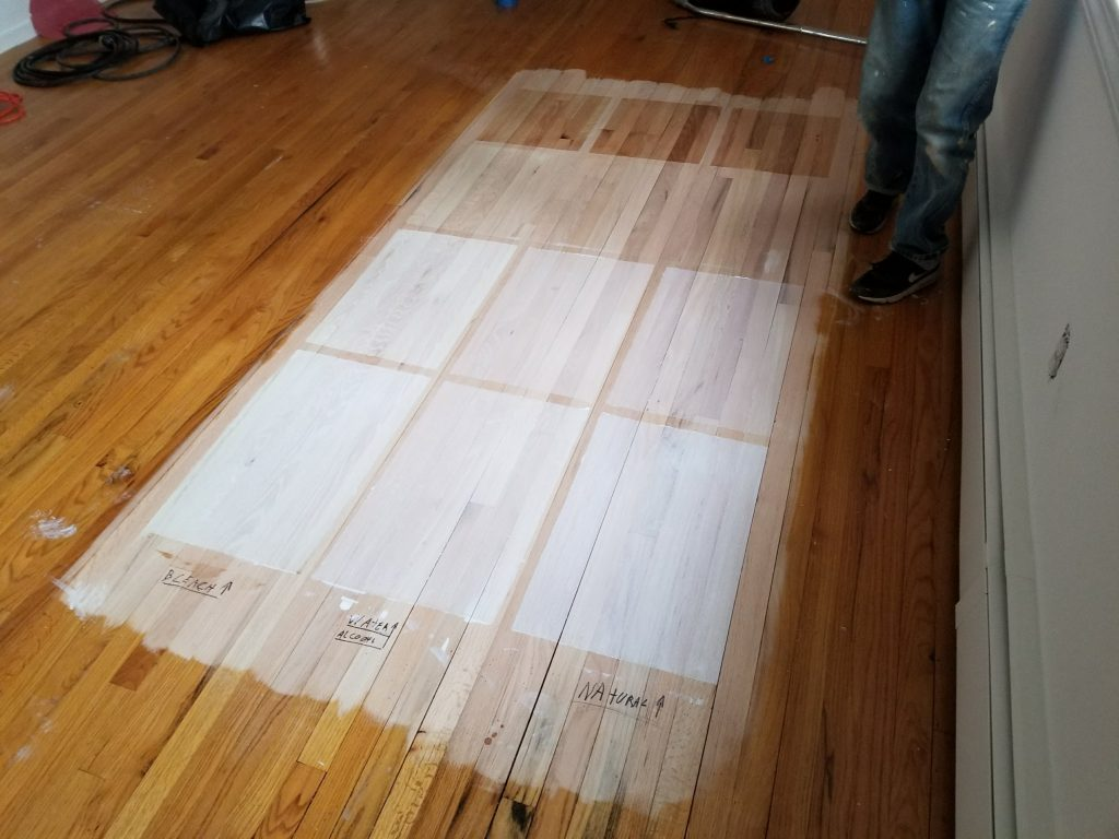 Wood Bleach plus Country White Duraseal Stain  Hardwood Now