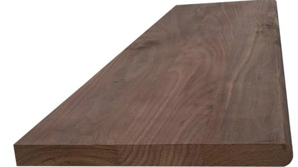 Walnut Hardwood Stair Tread – Blackford Sons Hardwood Stair Treads | Brazilian Walnut Stair Treads | Laminate | Walnut Ipe Wood | Risers | Ipe Brazilian | Hardwood Flooring