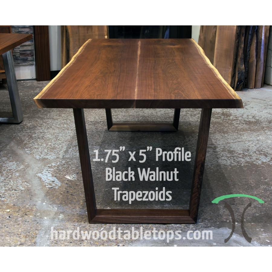 solid hardwood trapezoid style table legs