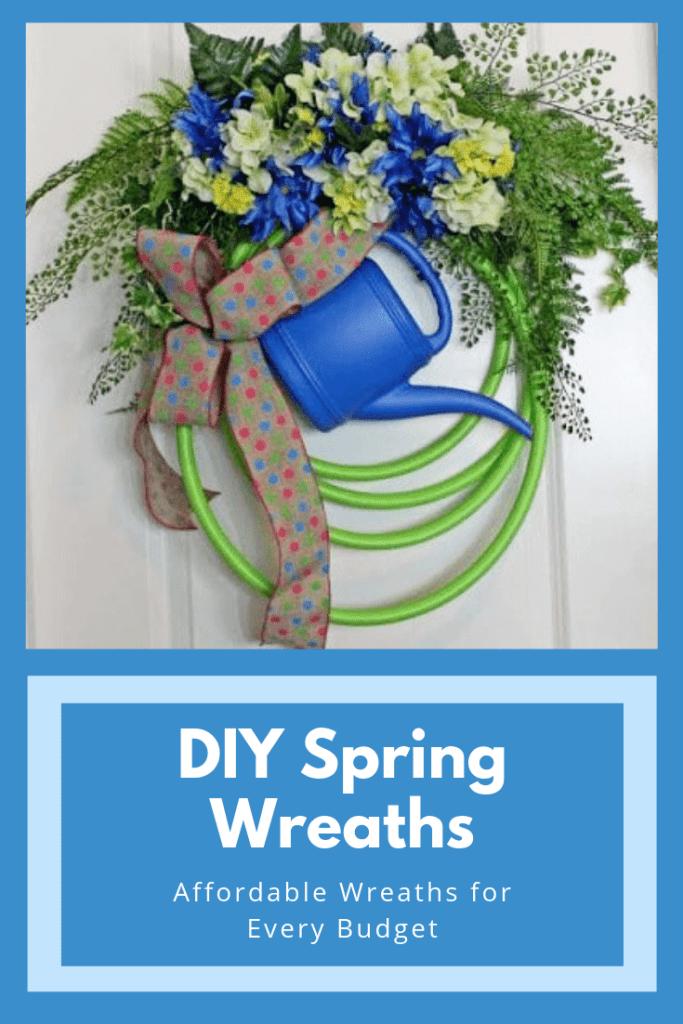 Garden Hose DIY Spring Wreaths at Hardworking Mom