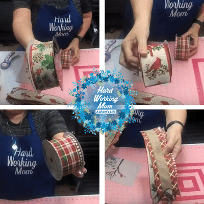 Ribbons for the Cardinal Wreath Tutorial at Hard Working Mom