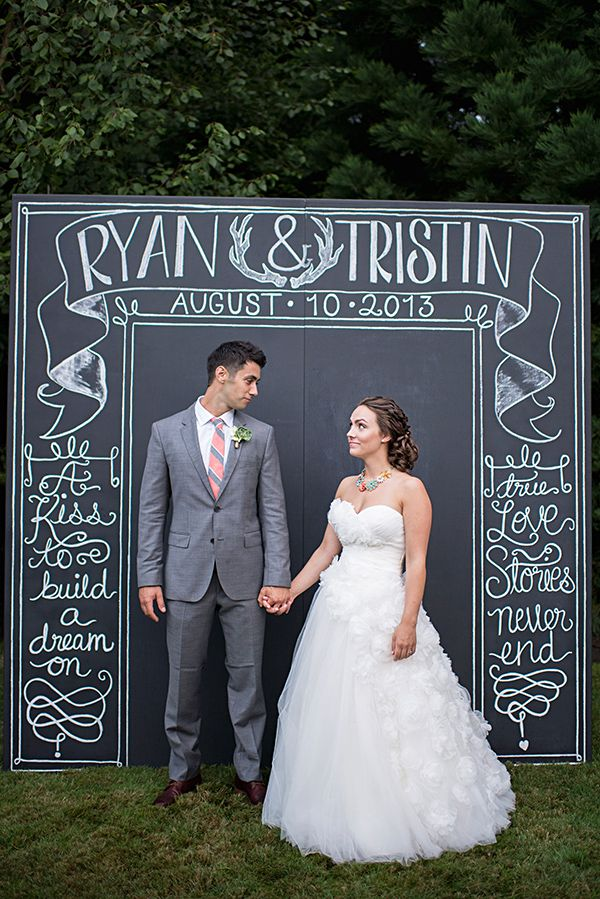 barn reception chalkboard