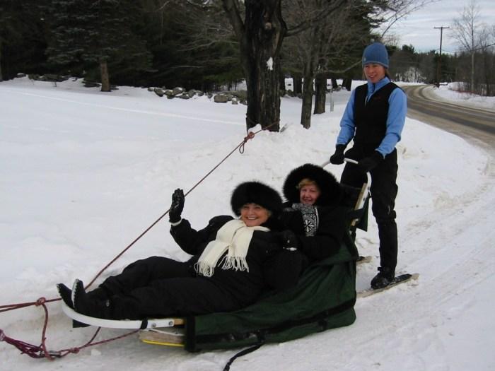 dog sledding at hardy farm