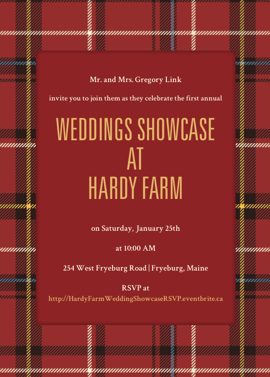 hardy farm wedding showcase invite