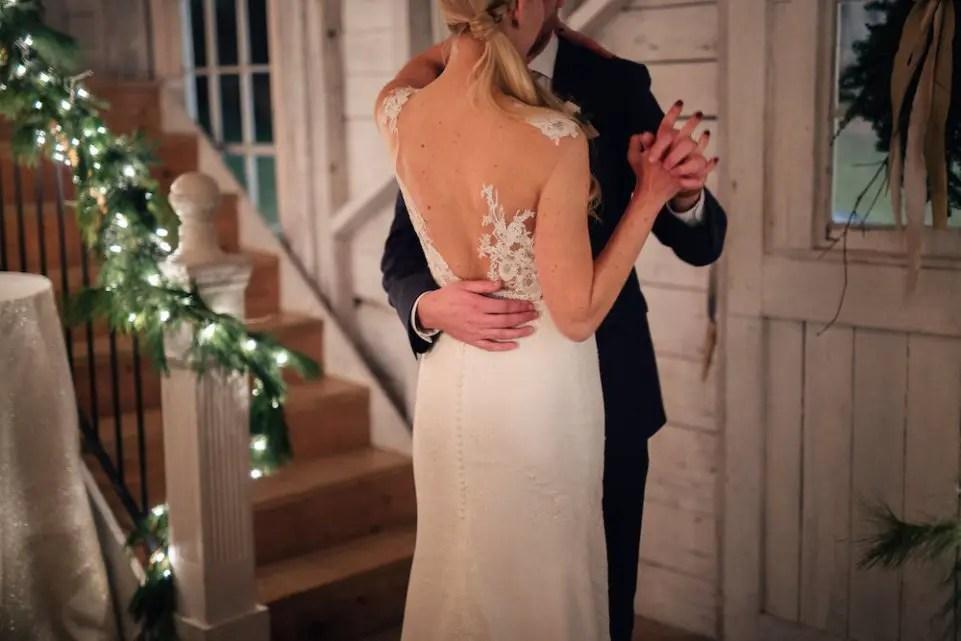 romantic december wedding dance