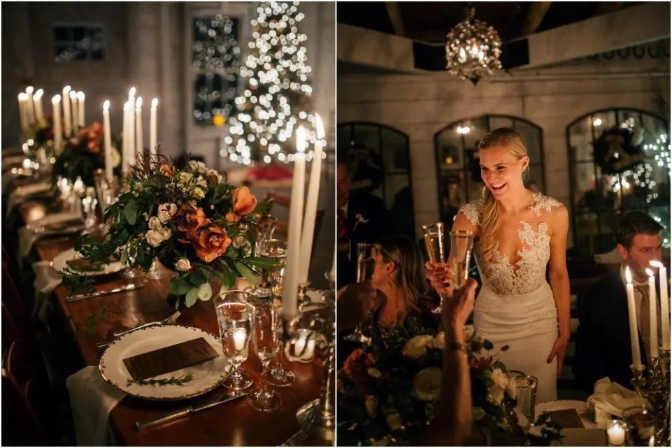 winter wedding decorating