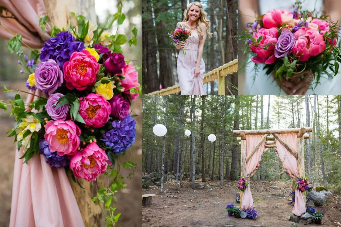 Bright fluid colors in wedding trends