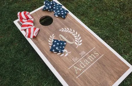 cornhole wedding set
