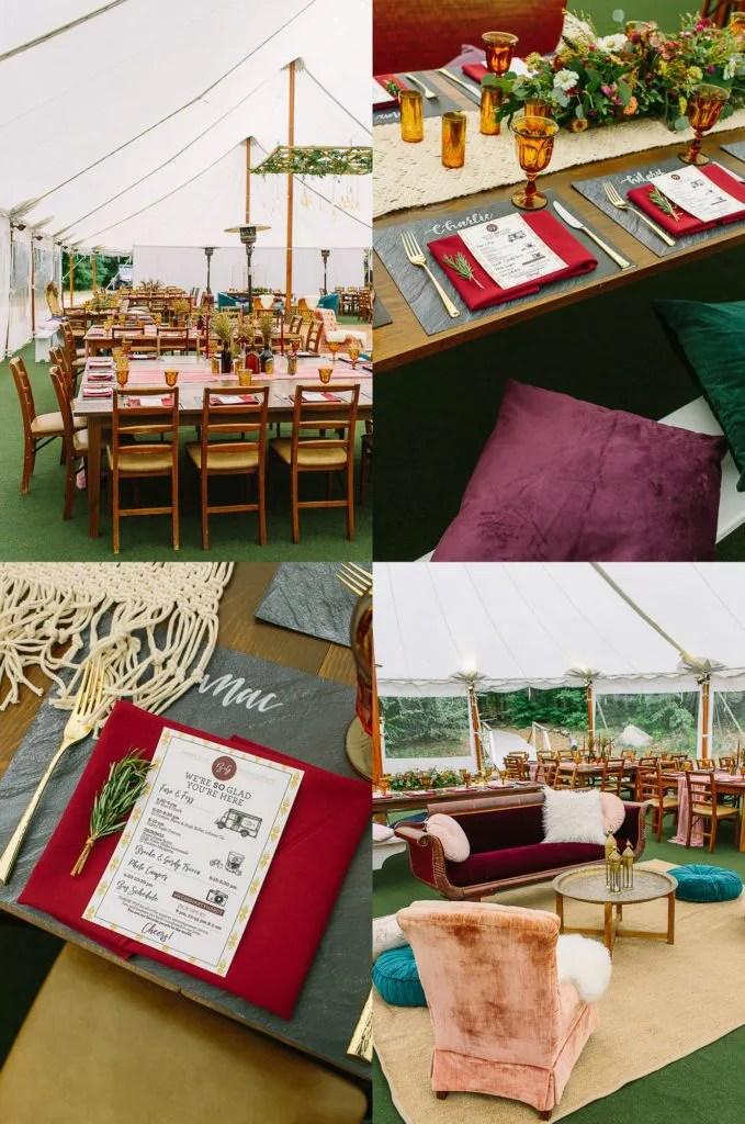 Food truck wedding menu