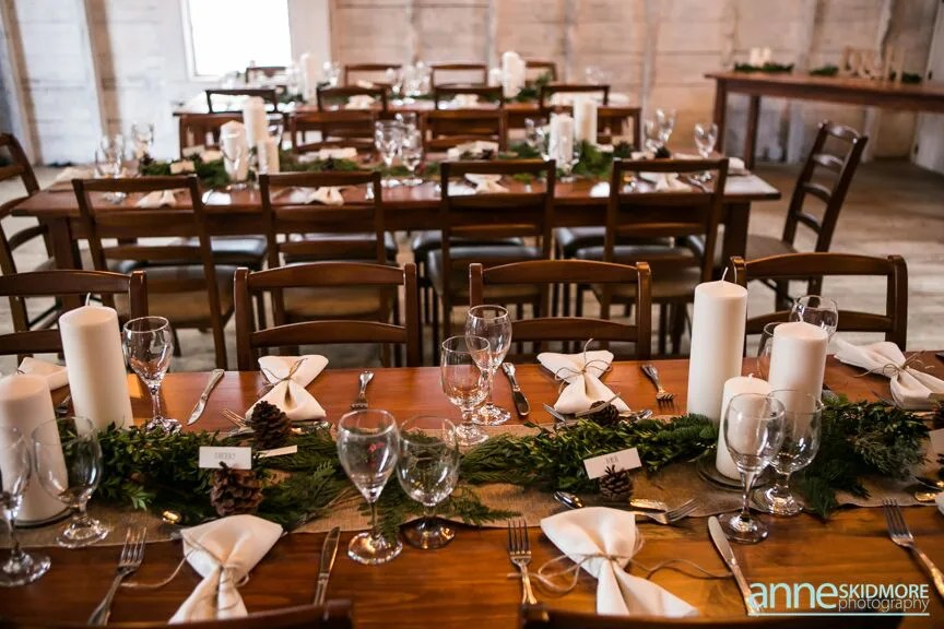 tablescape winter wedding