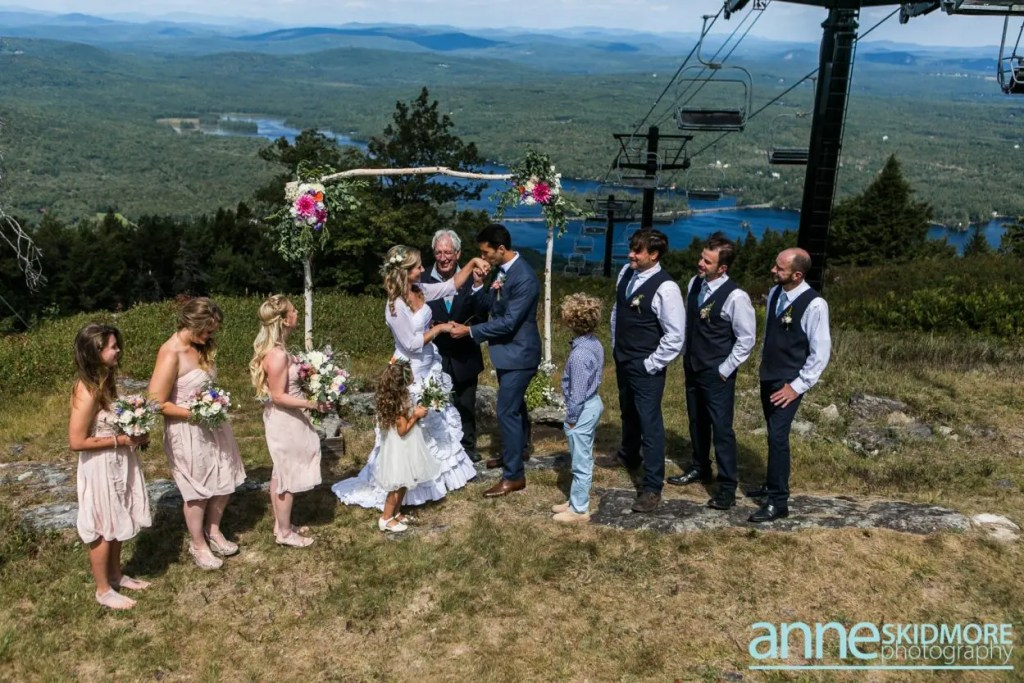 Maine mountaintop wedding