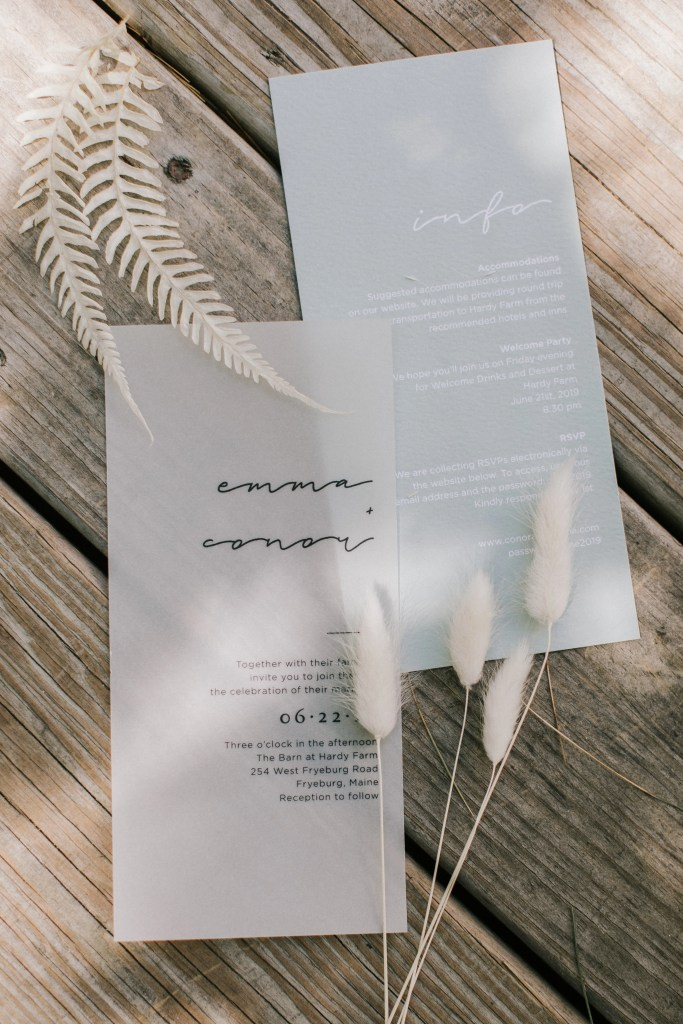 Maine summer wedding invitation