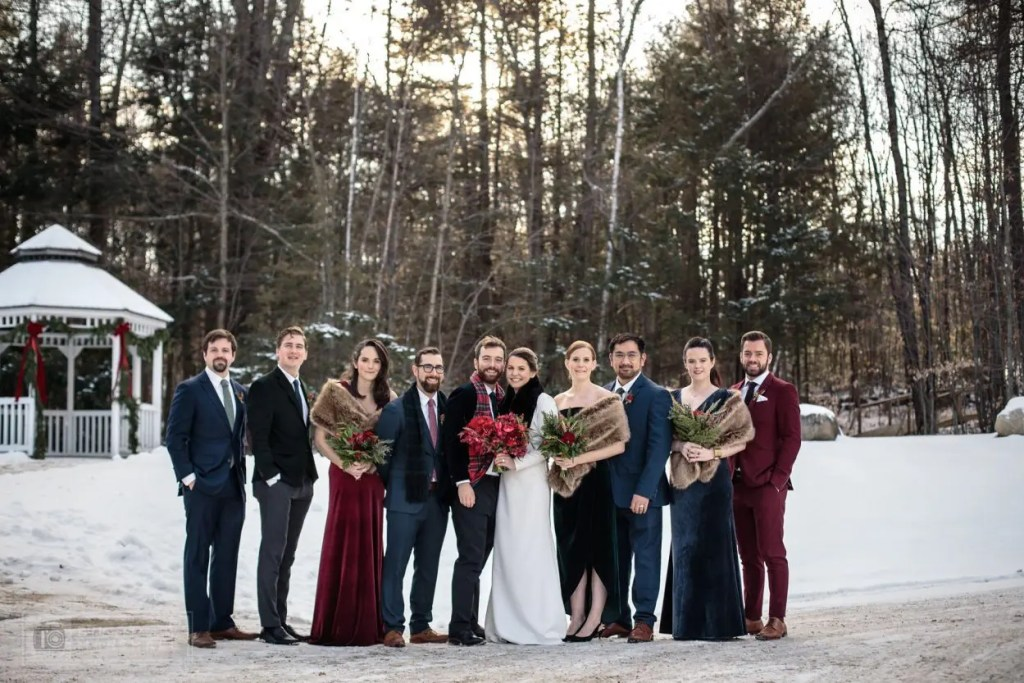 Caroline and Brian's Outdoor Winter Wedding