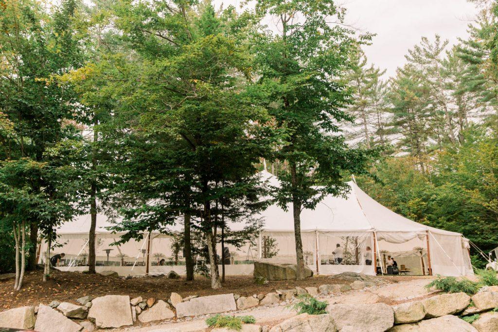 Maine sailcloth wedding tent
