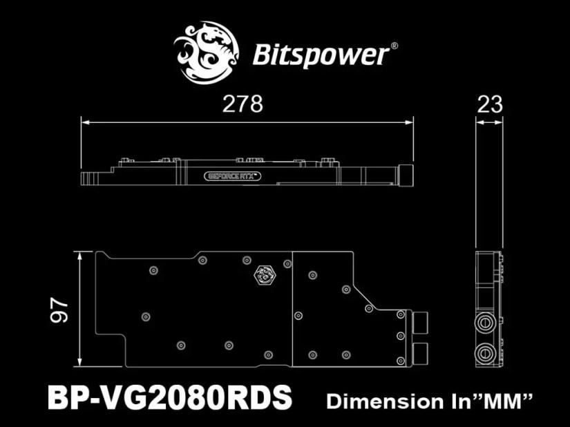 Bitspower lanza el primer bloque de agua con conexiones laterales para las NVIDIA RTX 2