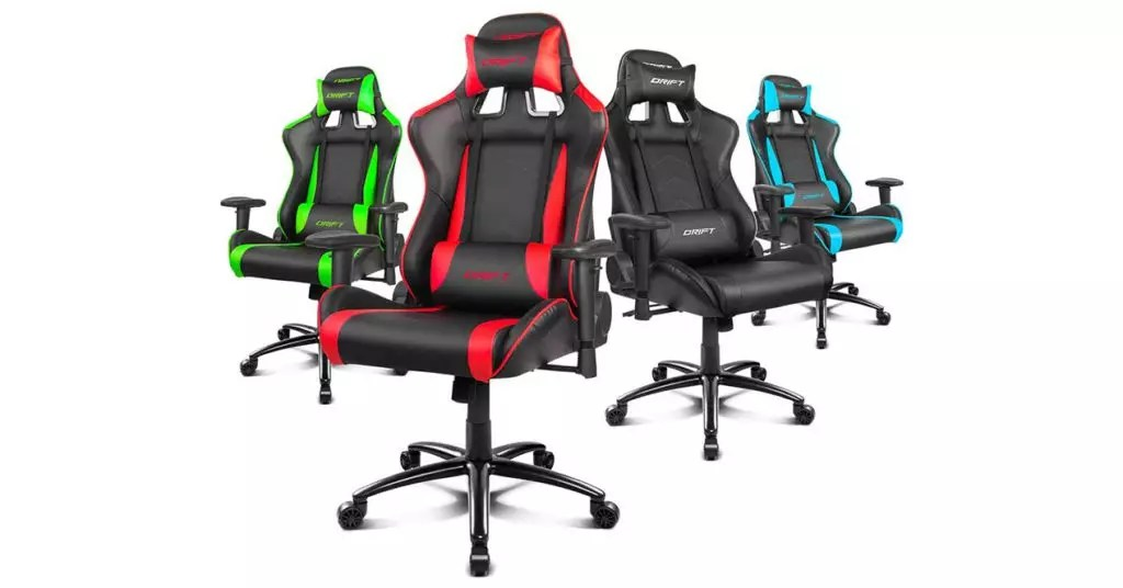 Drift DR150 nueva silla gaming con acabados de fibra de