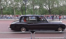 Charles and Camilla on the way to the palace