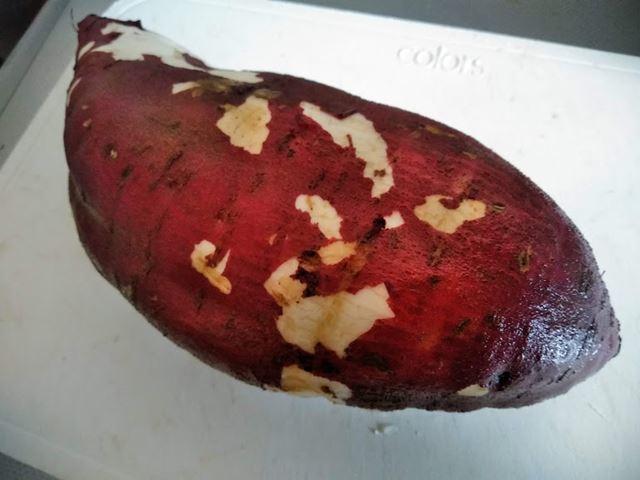 炊飯器 焼き芋 洗った芋