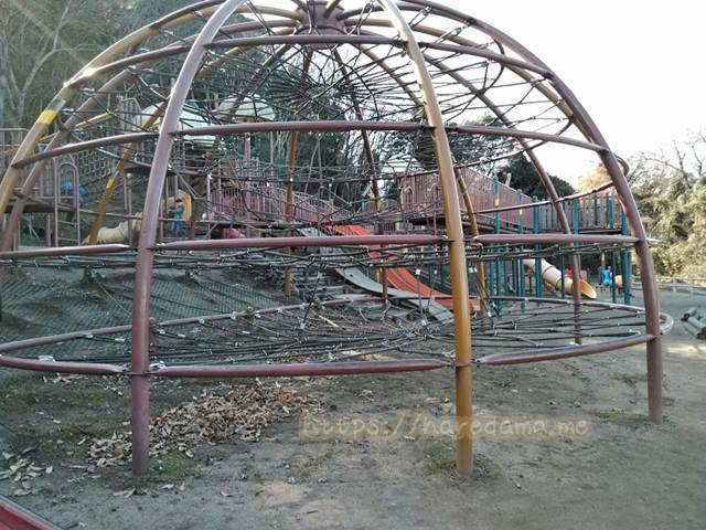 上野こどものもり公園 ロープの遊具