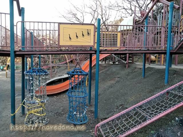 上野丘子どものもり公園 ロープと橋