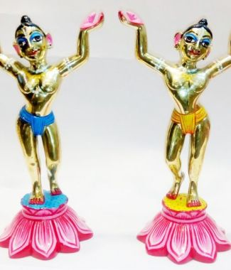 Gaura Nitai 6 Inches Special Paint