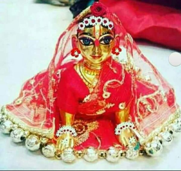 Radharani or Kishori Ji or Bal Radharani Deity / Murty / Statue made of Asthadhatu Original