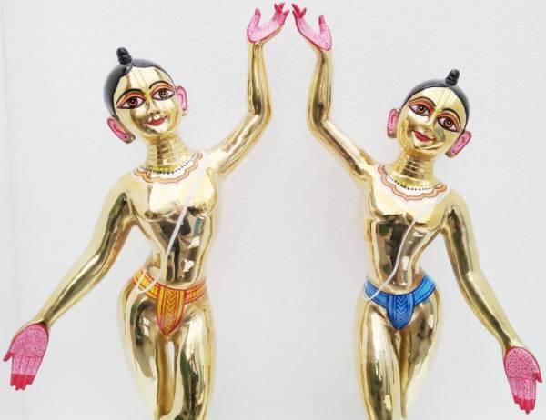 Gaura Nitai Metal Deities 30 Inches Original Asthadhatu