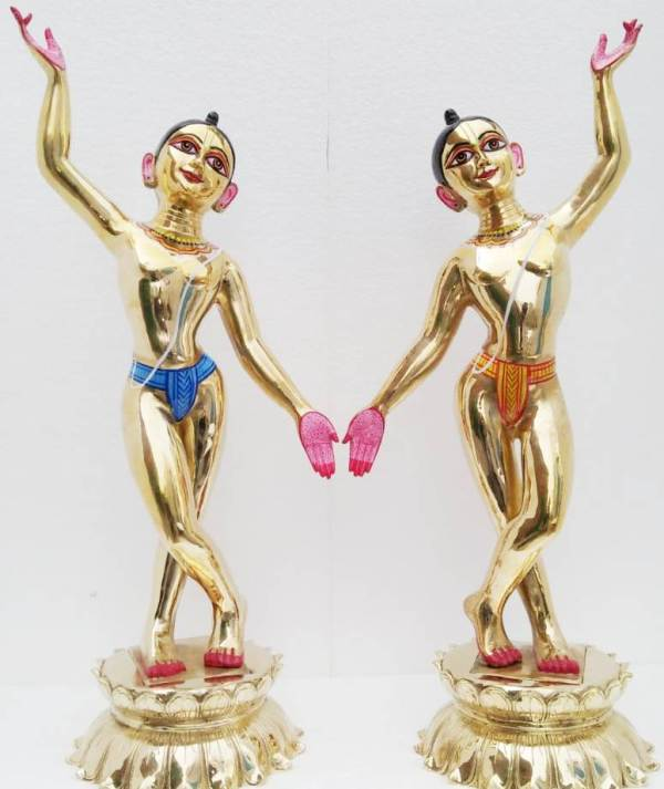 Gaura Nitai 30 Inches Metal Deity