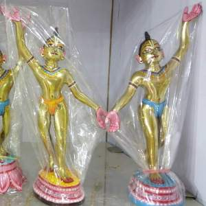 Gaura Nitai HUD 10 inches Metal