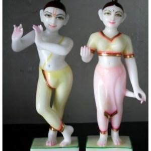 Marble Radha Krishna Deity / Statue / Vigraha / Murti