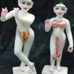 RadhaKrishna 12 Inches Marble