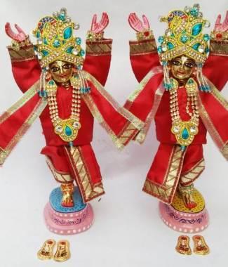 Gaura Nitai 7 inches Red
