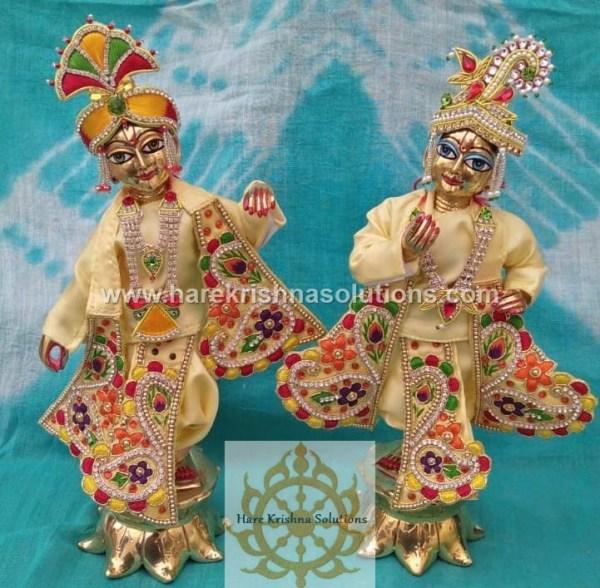 Krishna Balaram 10 inches light Yellow Dress (9)