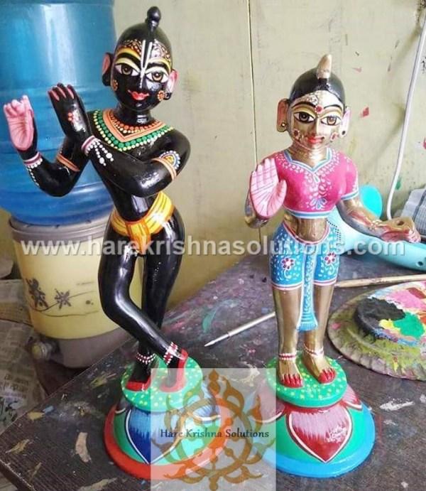 Radha Krishna 8 Inches- Black