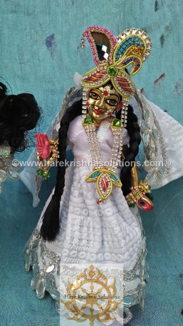 Radha Krishna 8 inches White (2)