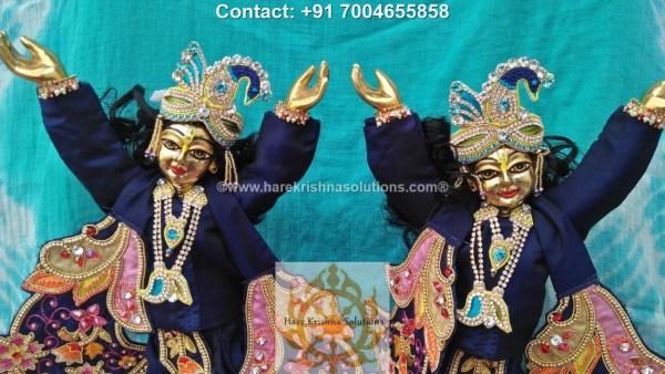 Gaura Nitai 12 inches Blue Dress (1)